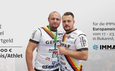 Sponsorpaket zur IMMAF-Europameisterschaft