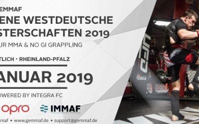 Anmeldungen für die Offenen Westdeutschen GEMMAF-Meisterschaften 2019 eröffnet