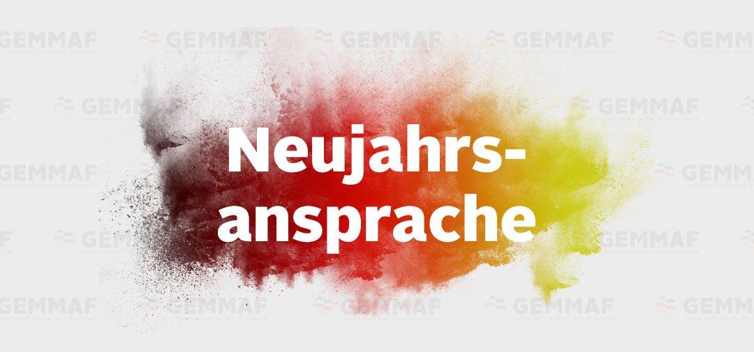 Neujahrs-Ansprache des GEMMAF-Präsidenten